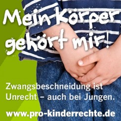 Pro-Kinderrechte: Mein Körper gehört mir!